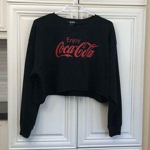 SWS women's crop Coca Cola sweatshirt